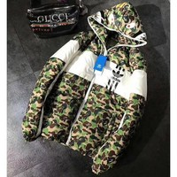 Adidas + Bape Shark Fashion Zipper Cardigan Jacket Coat Windbreaker Hooded G