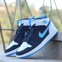 Nike Air Jordan Retro 1 High Tops Contrast Sports shoes G-CSXY
