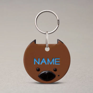 German Shepherd Dog ID Tag - Tag For Big Dogs, Unique Handmade Dog Accessories, Cute Pet Name Tag