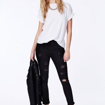 Missguided - Edie Ripped Skinny Jeans
