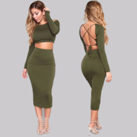 Edgy Bodycon Two-Piece Party Dress