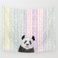 Panda Colorful Wall Tapestry by Paultran
