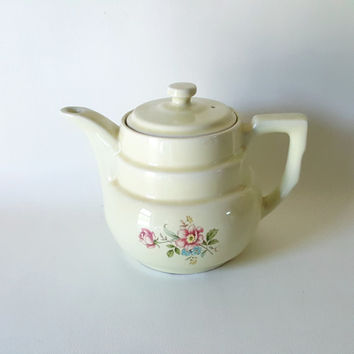 Vintage Kitchenware Vintage Coffee Maker Large Retro Coffee Percolator Vintage Hall China Dripolator Coffee Pot Floral Hall China tea Brewer