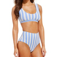 GB Stripe Banded Bralette Swimsuit Top | Dillard's