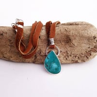 Colorback Turquoise Pendant Necklace. Natural Turquoise. Silver Turquoise Pendant. American Turquoise. Southwestern. Unique One of a Kind