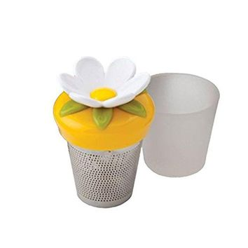 Joie Bloom Flower Floating Stainless Steel Loose Leaf Tea Cup Infuser