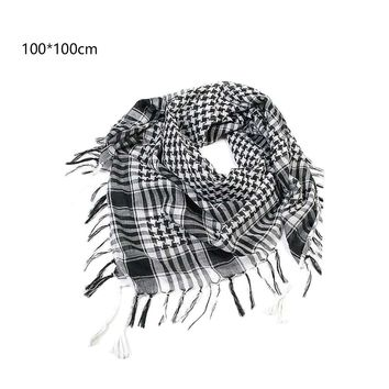 Charming Arab Shemagh Tactical Palestine Light Polyester Scarf Shawl For Men Fashion Plaid Printed Men Scarf Wraps