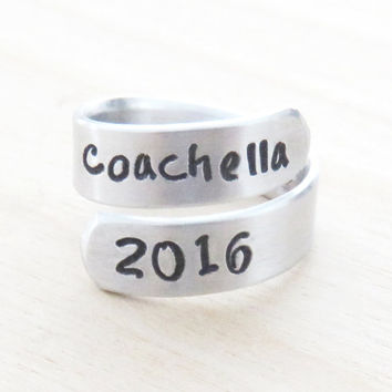 Coachella music festival - Coachella 2016 ring - Handmade jewelry fashion accessories