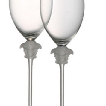 Versace Medusa Lumiere White Wine Glass