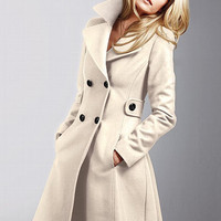 The Wool Side Tab Coat - Victoria's Secret