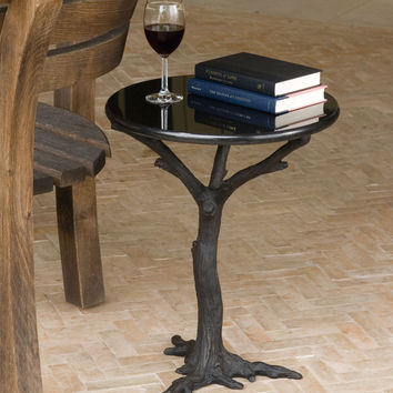 Global Views Faux Bois Side Table 8.80497