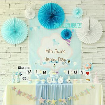 New 3pcs/Lot 12 Inch 30cm Tissue Paper Fan Decoration Wedding Event Party Christmas Birthday Party Decorations For Baby Shower