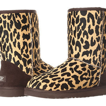 100% Authentic UGG Classic Short Exotic Cheetah Boot Size 7, EU 38 NIB