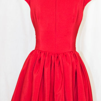 Bridesmaid dress red dress party dress pinup tea party dress 50's dress mad men dress vintage inspired  dress dress cocktail