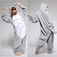 "New Cute Japan Anime Kigurumi Grey ""Totoro"" Cosplay Costume Pajamas S M L Size"