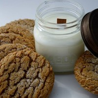 Soy Candle - Gingerbread Cookie Scented Mason Jar Container Candle