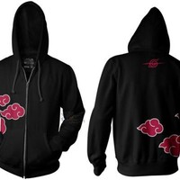 Naruto Shippuden Anti Leaf Clouds Akatsuki Anime Adult Hoodie