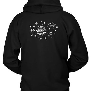 5Sos Space Hoodie Two Sided