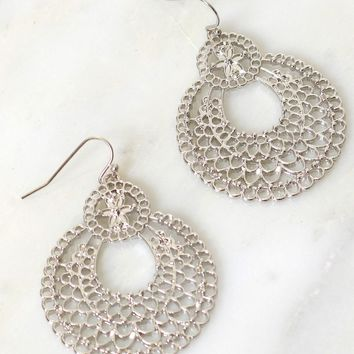 In the Courtyard Earring Silver