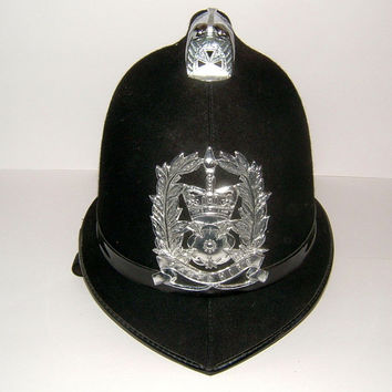 1970s English Police Helmet for Hampshire Police English Policeman Vintage Police English Bobby Vintage Police Uniform