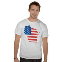 Wisconsin Patriotic Shirt from Zazzle.com