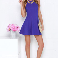 Flare Grounds Indigo Dress