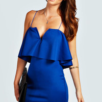Lorna Frill Top Bodycon Dress