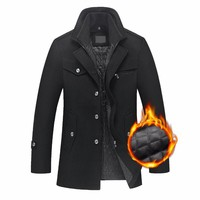 Men's Autumn And Winter Wool Jacket Thicken Warm Padded