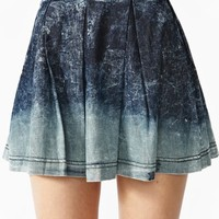 Dip Dye Denim Skirt