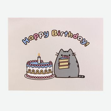 Pusheen Birthday card