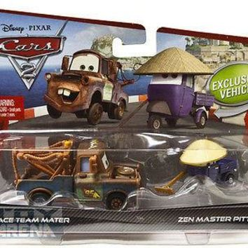 Disney Pixar Cars 2 Race Team Mater Zen Master Pitty