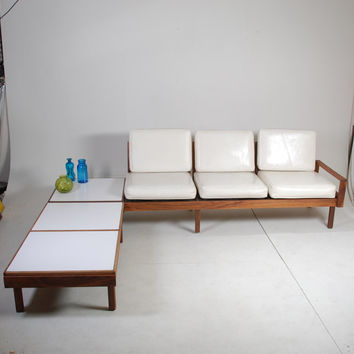 Mid Century Modern Modular Sofa By Martin Borenstein for Brown Saltman - New Upholstery