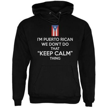 CREYON Don't Do Calm - Puerto Rican Black Adult Hoodie