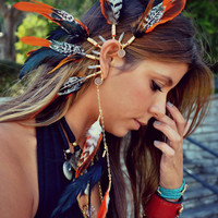 Born To Be Wild /// Electroformed Feather Ear Cuff by luxdivine