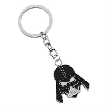 2017 Star Wars Darth Vader Keychain Sith Lord Black Lord Alloy Characters Black Skull Key Chain