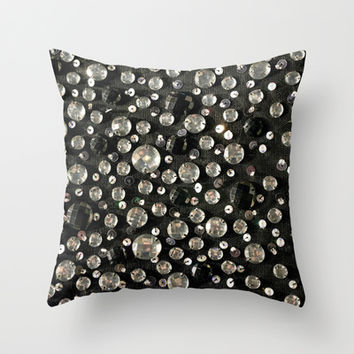 Glass Beads & Sequins Throw Pillow by essentialimage(™)   Society6