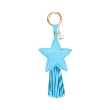 Star Design Tassel Keychain BLUE