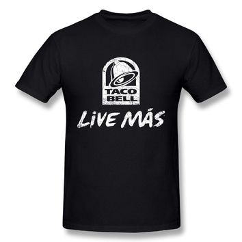 Taco Bell Live Mas Mens Fashion Short Sleeve Tee