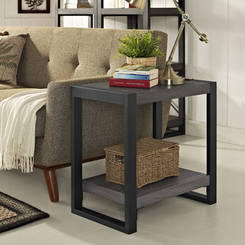 "24"" Side Table - Charcoal"