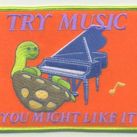 TRY MUSIC, YOU MIGHT LIKE IT patch from ONLINE STORE