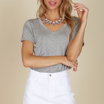 Denim Mini Skirt White