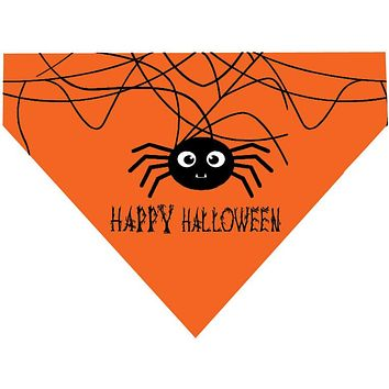 Halloween Over the Collar Dog Bandana - Spider Happy Halloween