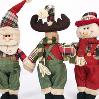 Snow Man Santa Claus Reindeer Doll Christmas Decoration Christmas Tree Hanging Ornaments Pendant