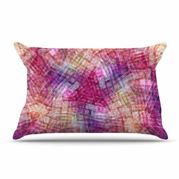 "Justyna Jaszke ""Mandala Colors Of Life"" Multicolor Pastel Abstract Pattern Digital Illustration Pillow Sham"