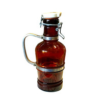 1920s Beer Bottle, Glass & Porcelain Lid, Made in Germany
