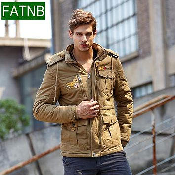 Winter 2016 Military Thick Snow Parka Men Jackets Coats Warm 98% Cotton Size 4XL Bomber windbreaker airborne Male Casual Jacket