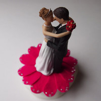Cake Topper Wedding Pink Bride Groom