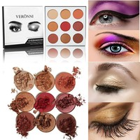 Veronni 9 Colors Persistent Eye Shadow [11898784527]