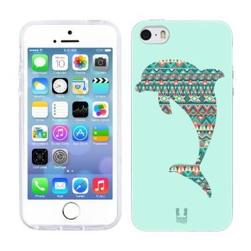 Head Case Designs Dolphin Patterned Animal Silhouettes Gel Back Case Cover for Apple iPhone 5 5s