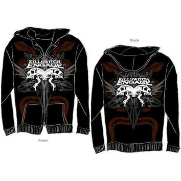 Killswitch Engage Snake & Skull - Mens Black Zip Hoodie